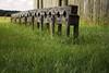 Deterrence -1 (vernonkilby) Tags: leg shackles wood fort stockade prisoner