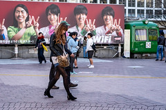 Shy Kitten (burnt dirt) Tags: asian japan tokyo shibuya station streetphotography documentary candid portrait fujifilm xt1 laugh smile cute sexy latina young girl woman japanese korean thai dress skirt shorts jeans jacket leather pants boots heels stilettos bra stockings tights yogapants leggings couple lovers friends longhair shorthair ponytail cellphone glasses sunglasses blonde brunette redhead tattoo model train bus busstation metro city town downtown sidewalk pretty beautiful selfie fashion pregnant sweater people person costume cosplay boobs leopard print pattern