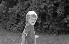 Indiana, 2007 (Anna Peterson) Tags: film pentaxk1000 pentax toddler blackandwhite monochrome