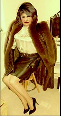 You got to love leather and furs! (donnacd) Tags: sissy tgirl tgurl dressing crossdress crossdresser cd travesti transgenre xdresser crossdressing feminization tranny tv ts feminized domina touchy feely he she look 易装癖 シー