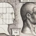 Vintage Illustration Profile Study of Man's Head published in 1542 by Hans Sebald Beham (1500-1550) thumbnail