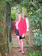 Janeblahtpntsarch-001 (fionaxxcd) Tags: mtf m2f transvestite trannie tranny crossdresser ladyboy ladyboi stilettos legs hotpants longblonde rednails mascara bangles bust breast nipples