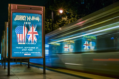journey / def leppard / foreigner - at&t park, september 21st 2018 (pbo31) Tags: bayarea california nikon d810 color august 2018 summer boury pbo31 sanfrancisco city urban night dark southbeach lightstream motion traffic muni station platform concert journey defleppard foreigner 80s show attpark poster reflection black livenation tickets