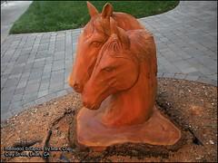 Redwood Horse Sculpture (clyde_95482) Tags: redwood sculptures