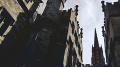 20170808_140921 [ps] - Hallowed Halls (Anyhoo) Tags: anyhoo photobyanyhoo uk scotland edinburgh tower spire stone gothic steppedgable gable finial assemblyhall victoriahall