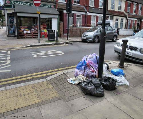 Dumping reported - Thackeray Avenue at the junction with Windsor Road