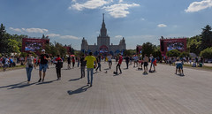 Multiple fan fests in front of the Moscow State University (marcoverch) Tags: fusball fans deutschland fusballwm football wm2018 moskau russland2018 moskva russland ru people menschen competition wettbewerb city stadt many viele group gruppe festival road strase street race rennen landscape landschaft recreation erholung crowd menge action aktion marathon tourist athlete athlet trackandfield leichtathletik racecompetition rennenwettkampf grouptogether versammeln daylight tageslicht head seascape nyc outside 7dwf windows rural pier moon waves multiplefanfests moscowstateuniversity