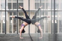 (dimitryroulland) Tags: nikon d600 85mm 18 dimitryroulland natural light bnf bibliothèque paris france mirror miroir reflection handstand balance backbend yoga yogini pointe performer art sport flexible people