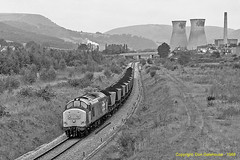 Coal For Steel (Don Gatehouse) Tags: britishrail br railfreight class375 37692 7b63 oakdalecolliery llanwern coal steel rogerstone southwales freight haahoppers