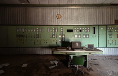 Doing overtime. (Left in the Lurch) Tags: urbex abandoned powerplant controlroom