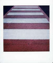 Stripe Carpet (Italian Film Photography) Tags: carpet stripes minimal asphalt lines striscie film analogue square instant fujifilm instax sq6 minimale abstract