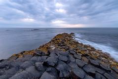 Giant's Causeway (johan wieland) Tags: northernireland unitedkingdom gb giantscauseway coastline rocks waves sea zee sunset