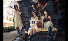 Papa Said: Don't Gimme No Lines and Keep Yo Hands to Yo Self (Whitney Lake) Tags: explore 34 vintage nostalgia retro women girls models stlouis cosplay steam locomotive railroad steampunk
