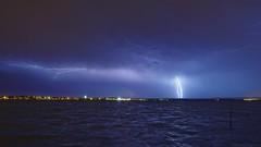Orage (fredf34) Tags: marseillan étangdethau thau orage thunderstorm storm landscape paysage panorama étang pond pentax pentaxk3 k3 éclair fotopromga684n sky nuages cloud