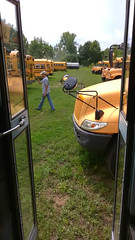 Making a school bus video (jimross90) Tags: schoolbus video youtube project681 bluebirdvision iccce
