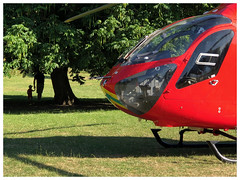 A stroll in the park (The Stig 2009) Tags: london air ambulance hems eehms red helicopter park accident thestig2009 thestig stig 2009 2018 tony o tonyo green candid apple iphone 8 plus bmw estate car police photo journalism