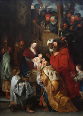 Peter Paul Rubens and workshop The Adoration of the Magi Netherlands (c. 1619) Oil on Canvas; 384 cm x 280 cm Royal Museums of Fine Arts of Belgium (medievalpoc) Tags: art history peter paul rubens medievalpoc the adoration magi netherlands 1600s oil canvas