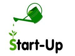 Startup (VIBE105FM) Tags: startup gründung gieskanne starthilfe hilfe existensgründung unternehmen grün pflanze wachsen beginn anfang helfen selbständig gründer beratung firmengründung geschäft vektor illustration symbol giesen starten germany