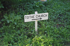 Church sign, Wootton Fitzpaine-2