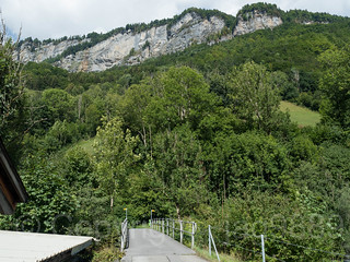LIN280 Schlettli Road Bridge over the Linth River, Betschwanden, Canton of Glarus, Switzerland