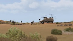 Hold the Line (7th Cavalry Combat Camera) Tags: mrap 7th cavalry gaming regiment us army milsim arma 3 m1232 mine resistant ambush protected infantry defensive
