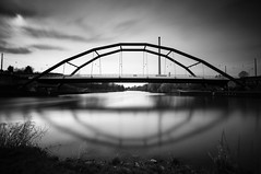 Ostspange Bridge (lja_photo) Tags: saarbrücken saar saarland ostspangebridge ostspange architecture architectural art artificial abstract white water europe exploration exposure river reflections rocks reflection travel tourism textures tower urban urbex old outdoors photography sky street streetphotography shadows stream detail dramatic docks fineart fujixt20 germany light landscape longexposure landmark lights landscapes contrast clouds city cityscape viewpoint black blackandwhite bw bnw blackandwhitephoto bridge natural monochrome monotone monoart moody