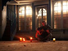 Keizo alone (An Arzhig) Tags: abandonned guitare guitar keizo alone bougies lights 50mm panasonic lumix gx800 portait musique music candle candles light