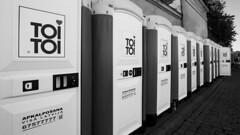 Toi Toi Toi Toi... (HansPermana) Tags: riga latvia lettland baltic balticnation balticsea oldtown toitoi toilet toilette blackandwhite monochrome