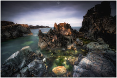 Stark Contrast (Augmented Reality Images (Getty Contributor)) Tags: nisifilters aberdeenshire benro canon clouds contrast horizon landscape longexposure portsoy rocks scotland seascape storm water waves