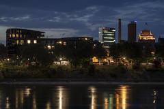 Rheinufer (Twjst) Tags: basel blauestunde bluehour langzeitbelichtung longexposure rhein schweiz switzerland