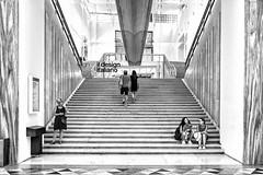 Palazzo della Triennale (drugodragodiego) Tags: triennale milano lombardia italy architecture arte mostra scalone stair people blackandwhite blackwhite bw biancoenero fuji fujifilm x100t fujifilmx100t