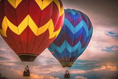 RISE! (trs125) Tags: hotairballoons warrencountyfarmersfair countyfair carnival summertime flying