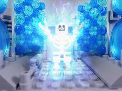Birth of Dr. Manhattan (-Metarix-) Tags: lego super hero minifig dc comics comic dr manhattan watchmen origin lab freak accident doomsday clock jonathan osterman god light pieces