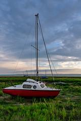Pocket size boat (Si Bart) Tags: a6300 heswall merseyside moorecameraclub riverdee sigma16mm sony sunset uk birkenhead england unitedkingdom gb