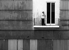 the man outside (Ana Carvalhais) Tags: lisboa lisbon mono blackwhite