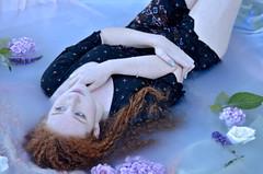 A Drift (G Harrington Photography) Tags: redhead model milkbath floral flicker dreaming beauty girl drifting milkportrait portrait redhair gharrington classic ethereal fantasy