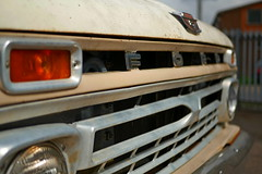 F is for Ford (heresthething...) Tags: ford pickup f150 truck grill field depth shallow car auto vintage classic badge 1960s headlights v8 hood