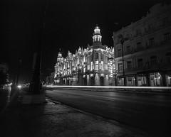 Havana at Night - Cuba (IV2K) Tags: havana habana lahabana cuba cuban kuba habanavieja centrohavana ilford ilfordfilm ilfordhp5 hp5 mediumformat mamiya7 mamiya mamiya7ii film blackandwhite bw caribbean lighttrails
