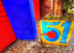 51 el año en que nací. (FOTOS PARA PASAR EL RATO) Tags: azul casas puertas calle 51 numero numeros