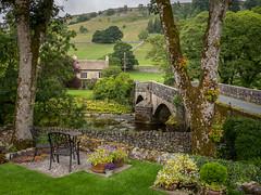 An Arncliffe back garden on the River Skirfare (Bob Radlinski) Tags: arncliffe emmerdalefarmtvseries england europe greatbritain littondalevalley riverskirfare uk yorkshiresouth districtofnorthyorkshire travel em1c9315orf