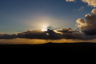 Setting Sun Over Hare Tor, Dartmoor
