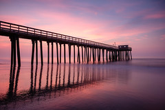 Sunrise on the Jersey shore (RonP2017) Tags: seascape sunrise shore avalon pier newjersey