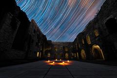 Roof of stars (Daniele Bisognin) Tags: night stars strartraill forte asiago italy longexposition old barrack worldwildwari summer sky history greatwar