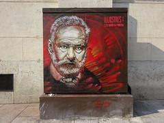 C215 : Victor Hugo (juillet 2017) (Archi & Philou) Tags: hugo victorhugo streetart c215 stencil pochoir écrivain panthéon paris05 boîteàfeux exposition exhibition rouge red