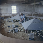 A man provides water for chicks in one of the Marshall Chicken Ranch hatcheries, Toronto, Ontario / Un homme donnant de l'eau à des poussins dans l'un des couvoirs du Marshall Chicken Ranch, Toronto (Ontario) thumbnail