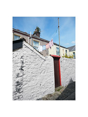 washday (chrisinplymouth) Tags: door red backdoor wall white whitewash washing washingline clothes clothing washday house home building terraced princerock plymouth devon city cw69x wb xg backlane