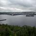 Porto de Murmansk visto do outro lado da cidade