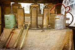 Rustic pic (aquanout) Tags: dairy churns tools stilllife agriculture texture jars