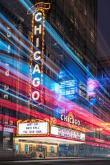 Chicago Theatre Blue Hour - Explored! (MichellePhotos2) Tags: chicago theatre blue hour chicagotheatre bluehour downtown twilight night lightpainting 35mm prime nikon d850 nikond850 longexposure loop illinois historic landmark marquee statestreet city architecture