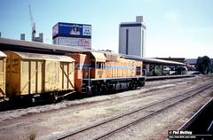 3634 AB1533 freight Perth Railway Station 15 April 1984 (RailWA) Tags: railwa philmelling westrail 1983 ab1533 perth railway station